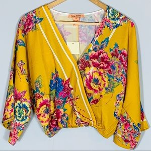 Flying Tomato | Floral Dolman Sleeve Wrap Top XS